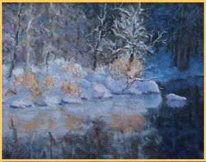 Frigided-Reflections-16-x-2 actual painting