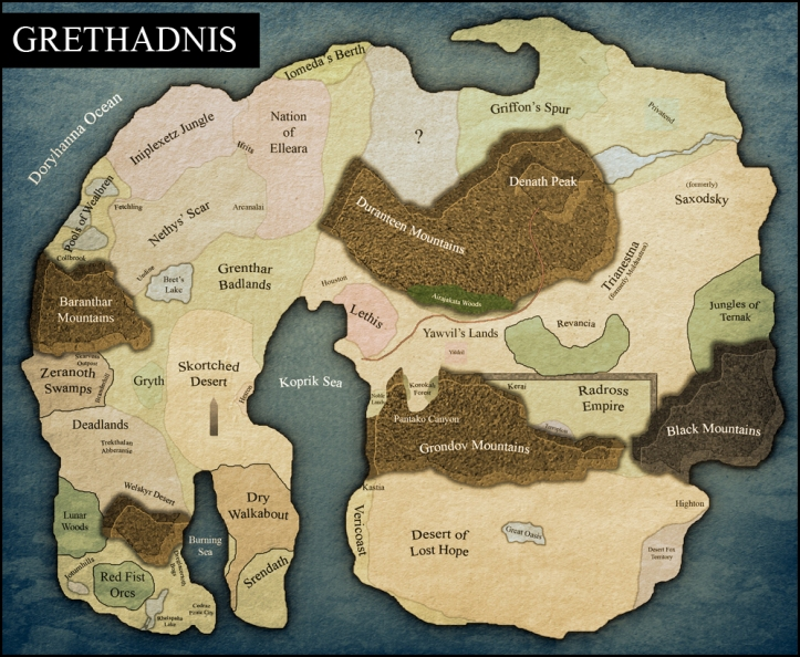 Grethadnis preliminary map