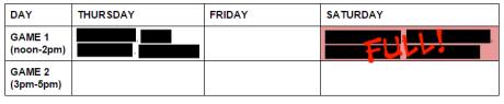 playtest schedule gencon 2015 5.16.2015