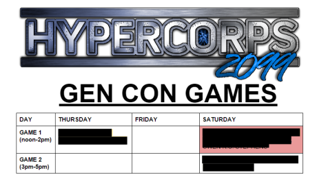gencon games schedule 2015 as of 6.23.2015