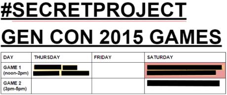 gencon games schedule 2015 as of 6.7