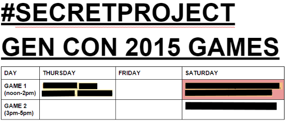 gencon games schedule 2015 as of 6.7