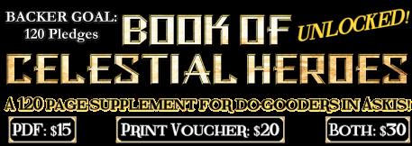Book of Celestial Heroes Backer Goal UNLOCKED