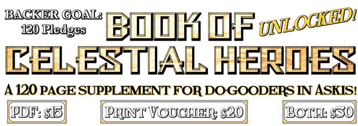 Book of Celestial Heroes Backer Goal UNLOCKED