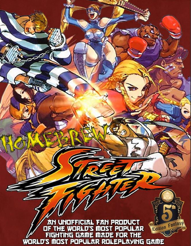 Street Fighter DND 5e cover snapshot