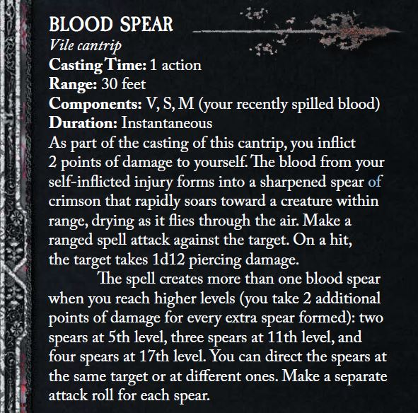 Patron of meat blood spear