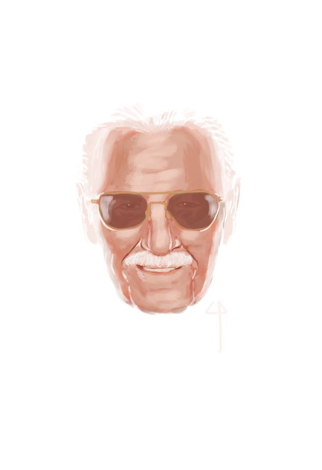 Stan Lee commemoration portrait by Claudio Pozas