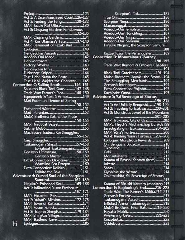 Trade War Table of Contents (page 2)