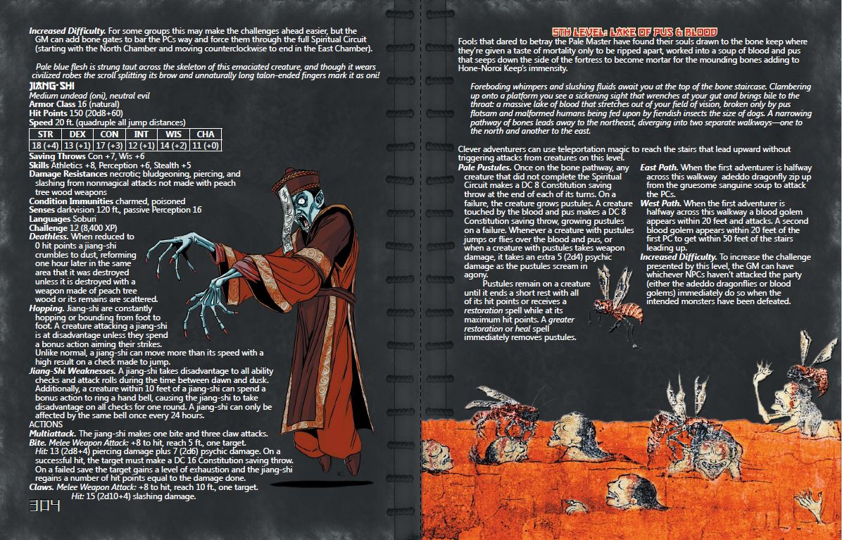 Trade War sample pages (Jiang-Shi, Dungeon of Buddhist Hells)