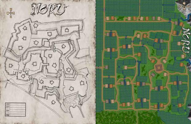 Mists of Akuma Seven Grains of Rice Noru maps