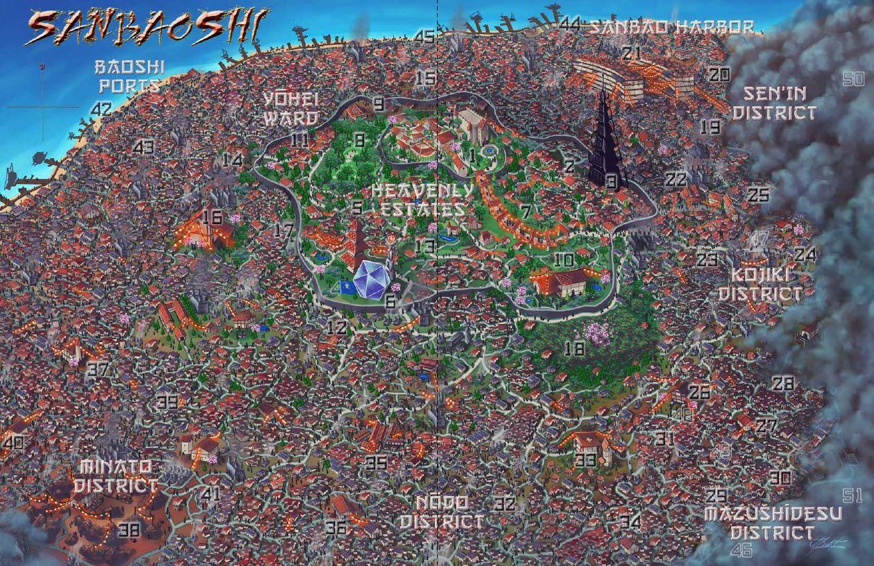 Gorgeous 2-page isometric map of Sanbaoshi by Indi Martin!