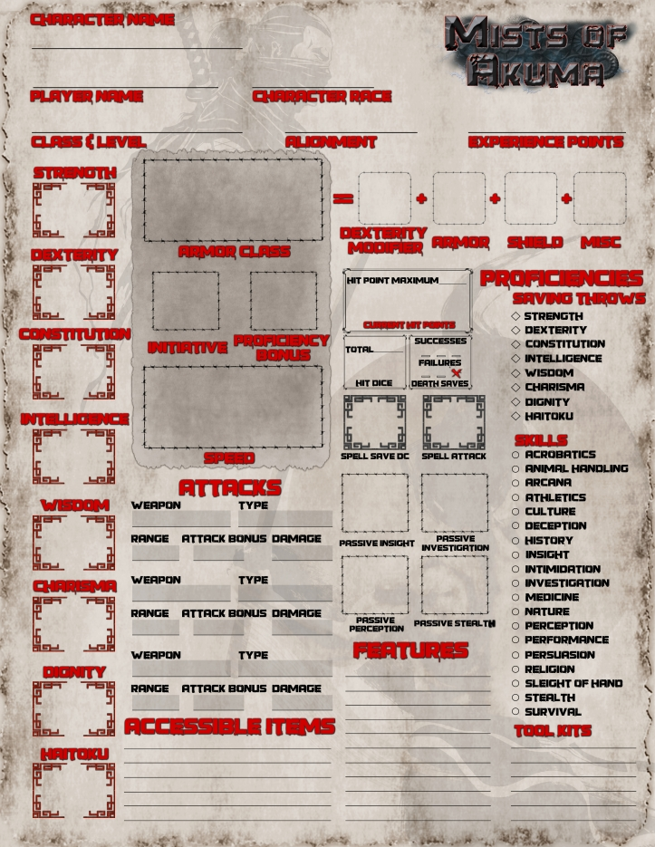 MoA 5E Character Sheet FRONT and FIXED