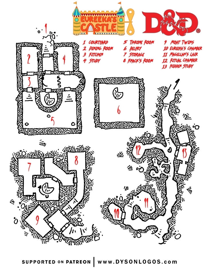 eureeka's castle dnd 5e castle map draft uno 7.2